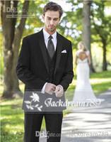 Wholesale Custom Made Popular Western Vocational Nice Groom Tuxedos Groomsmen Suits wedding suits for men Jacket Pants