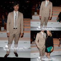 Vendita all'ingrosso - Slim Fit bello confortevole sposo smoking Groomsmen abiti sposa abiti per men(Jacket+Pants+Tie)