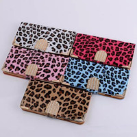 Wholesale - New Arrival Leopard Wallet Leather Case for iPho...
