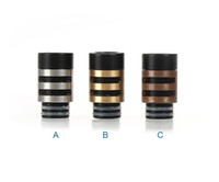 wang - 2014 Newest EGO E Cig Drip Tips mm Wide Wang Word Drip Tip Stainless Steel with Resin Atomizer Mouthpieces for CE4 Vivi Nova DCT Evod
