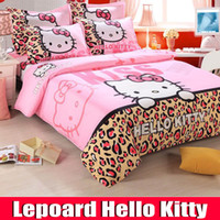Wholesale one piece cotton towel free Hello kitty bedding King queen size bedding sets bedspread bed linens hello kitty bed set