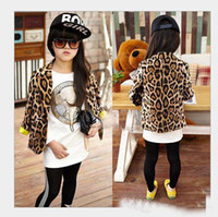 arrival outwear - hot selling New arrival Children Autumn clothes Outwear Tops girl fashion leopard long Sleeved jacket cardigan suit