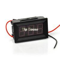 Wholesale 2014 Portable New Fashion Red LED Panel Meter Mini Digital Two wire Voltmeter Voltage Meter DC V To V TK1218