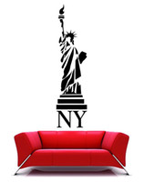 Wholesale Statue of liberty NY large Mural vinyl wall decal art wall sticker home decoration