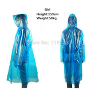 Wholesale 2pcs Plastic Raincoat Women Rain Coat Outdoors Coats for Adult Women Hiking Climbing Tour Rainwear