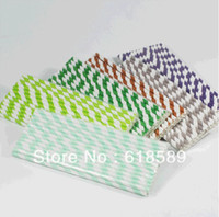 Wholesale Strip Chevron And Polka Dot Drinking Paper Straw Party Decoration For Wedding And Birthday