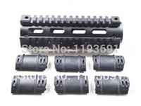 ar rubber - ALUMINUM AR AR15 M4 Rifle Carbine Length Weaver Picatinny Quad Rail Handguard with Rubber Covers