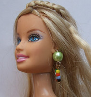 Cheap Wholesale-Free shipping necklace & Ear ring 3 sets accessories for barbie doll