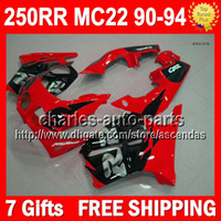 7gifts For HONDA CBR250RR 1990 1991 1992 1993 1994 Red black...