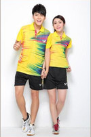 Wholesale new polyester fast dry race suits badminton service men and women sports ball suit