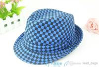 Wholesale Fedora Caps For Men Women Check Style colors Mix T C C6