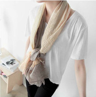 Cheap Lady Vatican yarn scarves solid color cotton scarves cotton Cashmere Pashmina scarves fringed Women Christmas Gift