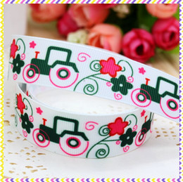 Wholesale 7 deer printed grosgrain ribbon hairbow headwear party decoration diy OEM mm P3182