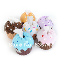 Wholesale Cute Lovely Cupcake Cake Tissue Box Towel Holder Paper Container Dispenser Cover