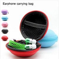 Universal Noise Cancelling Wired Factory Price Earphone Zipper Case Headphone Earbud Carrying Storage Bag Pouch Hard Case For Coin Key With High Quality 100PCS Free Shipping