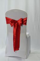 satin chair sash - 2014 hot sale wedding satin chair sash red sash