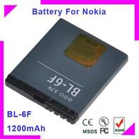 Cheap BL-6F high capacity 1200mah cellular phone battery Batterij bateria Batterie AKKU ACCU for Nokia N78,N79,N95 8GB 5pcs lot