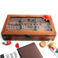 Wholesale New Retro Vintage Wooden Pen Pencil Case Multi Layers Drawer Partition Holder Stationery Box Storage