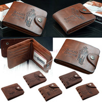 Wholesale Stylish Fashion Men s Fine Bifold Wallet Retro Coffee Money Clip Types PU Leather Purse For Men