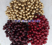 Wholesale 3C available diy christmas decorative accessory berry garland decoration candy box accessory floral flower