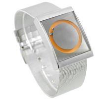 balck watch - hot men dress watch luxury brand new Fashion PAIDU Stainless Steel Fashion Square Orange Face Mens Wrist Watch balck orange