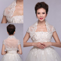 Wholesale Sparkle Wedding Jacket Bridal Wraps with Beaded Organza Short Sleeve Bolero Jacket of Wedding accessories Bridal Wrap HY