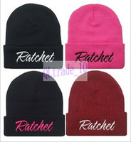 Wholesale 2014 New Brand RATCHET Beanies Knitted Hip Hop Cap men Women Embroidered Wool Cap Popular wool Hat Fashionable Winter Hat LJJD62