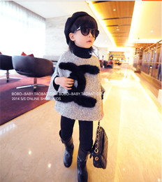 Wholesale Autumn New Girl Loose Cloak Coat Children Outwear Kids Poncho Coat Tops Girl Outfits Girl Coat J16637