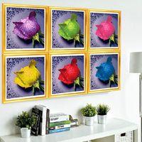 2014 Новый 5D полноцветный вышивки комплект поделки кладка Алмазный Rhinestone Живопись Искусство Handwork цветок домашнего декора кирпич стежком