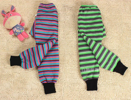 Wholesale Manufacturer Sale Vogue Children Thick Warm Quilted Boy Pants Crotch Trousers Striped Full Backing Outer Wear Can Be Girl Legging