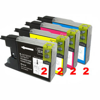 Wholesale 8PK NEW Ink Cartridge for Brother Printer LC71 LC75 MFC J430W MFC J435W Ink No