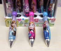 Wholesale 1 Box rotating children Cartoon Frozen Stationery Ballpoint pen