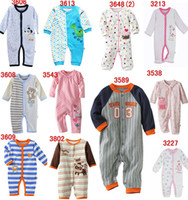 Unisex baby bargains - NEW Baby romper Long Sleeves one piece baby onesies sleeping bag mixed colors bodysuit bargain price pajamas pure cotton jumpers