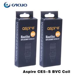 Wholesale Aspire BVC Coil Head Nautilus Atomizer Coil Genuine Aspire E Cigarette Coil Heads Big Stocks