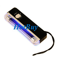 Wholesale 2in1 Handheld UV Light Torch Portable Fake Money ID Detector Lamp Black