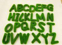 Wedding alphabet decorative letters - 6pcs Artificial Grass Letter Alphabet A Z Flower Decorative Home Wedding Craft
