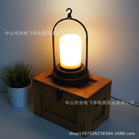 Wholesale led table lampHot minimalist dining room IKEA children s bedroom nightstand Nordic American country portable retro table lamp wholesaledesk