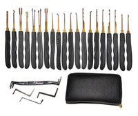 Wholesale Good Quality GOSO Titanize Hook Picks w Bag Locksmith Tool Lock Pick Set Lockpick Locksmith tools