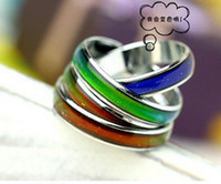 stainless steel rings - mm mm mix size mood ring change color to your temperature reveal your inner emotion stainless steel ring for man and woman
