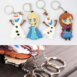 Wholesale Frozen Key Chain Elae Anna Olaf Snowman cm Soft Rubber Cartoon Pendant Key Ring Arts Crafts Figure Kids Children Toy Free DHL Factory Price