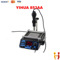 Cheap YIHUA-853AA BGA Preheating Station Rework Station with hot air gun. desoldering station