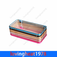 Wholesale 50 free DHL shipping Metal frame Bumper hard cover protective case for iphone G inch Metal Frame Bumper case