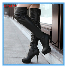 ENMAYER new2015 winter fashion sexy thin high-heeled women slim woman thigh boots over the knee boots ultra high heel long boots