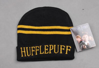 Wholesale New fashion Harry Potter Gryffindor Slytherin ravenclaw Hufflepuff Thicken Wool Knit Hat Cap