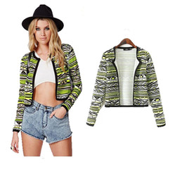 Wholesale New fashion Spring autumn womens short jackets female coat floral printed coats cotton blazer casacos femininos YG543