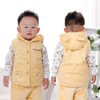 Wholesale 2014 baby autumn and winter vest baby thick hooded vest Baby velvet vest