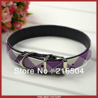 Wholesale New Hot Artificial leather dog collars Pet puppy Cat and Small dogs PU leather collar colors styles