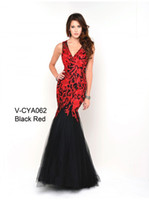 Cheap 2014 Elegant Lace Applique Organza Beaded V-neck Mermaid Evening Gowns Custom Made Teen Pageant Dresses Party