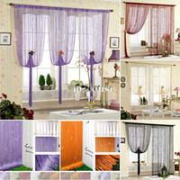 Wholesale Freeshipping Panel Line String Tassel Curtain Drape for Window Door Vestibule Colorful Curtains OS00123 b008