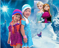 Wholesale Frozen winter hat ELSA ANNA high quality Anna elsa style Crochet hats Comfortable Soft In the latest fashion